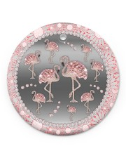 Pink Flamingos - Circle Ornament Circle ornament - single (porcelain) front