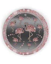 Pink Flamingos - Circle Ornament Circle ornament - single (wood) thumbnail