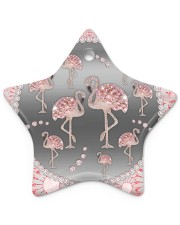 Pink Flamingos - Circle Ornament Star ornament - single (porcelain) thumbnail