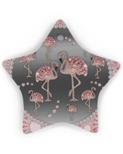 Pink Flamingos - Circle Ornament Star ornament - single (wood) thumbnail