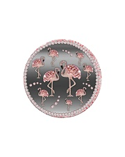Pink Flamingos - Circle Ornament Circle Magnet thumbnail