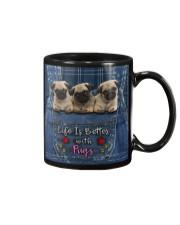 Pug Life Is Better Mug tile