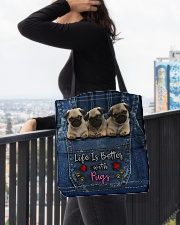 Pug Life Is Better All-over Tote aos-all-over-tote-lifestyle-front-05