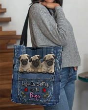 Pug Life Is Better All-over Tote aos-all-over-tote-lifestyle-front-09
