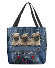 Pug Life Is Better All-over Tote back
