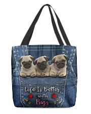 Pug Life Is Better All-over Tote front