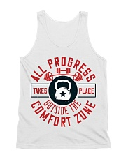 All Progress Takes Place Outside The Comfort Zone All-over Unisex Tank thumbnail