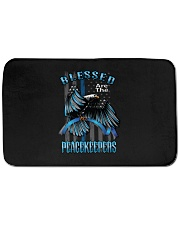 "Blessed Are The Peacekeepers Bath Mat - 34"" x 21"" thumbnail"