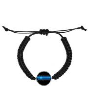 Blue Lives Matter Jewelry Cord Circle Bracelet thumbnail