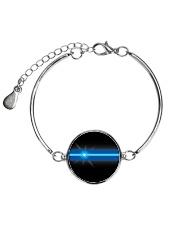 Blue Lives Matter Jewelry Metallic Circle Bracelet front