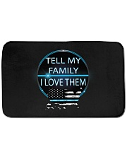 "Tell My Family Bath Mat - 34"" x 21"" thumbnail"