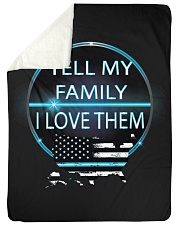 "Tell My Family Large Sherpa Fleece Blanket - 60"" x 80"" thumbnail"