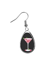 Pink Cherry Martini Teardrop Earrings thumbnail