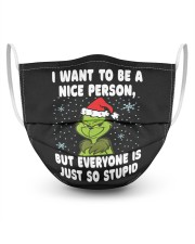 I want To Be A Nice Person But funny Grinch Gifts 3 Layer Face Mask - Single thumbnail