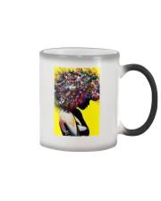 Black Love Poster - 9 Color Changing Mug tile