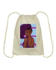 Black Love Poster - 4 Drawstring Bag thumbnail