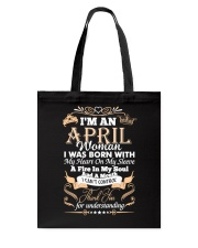I'm an April woman Tote Bag thumbnail