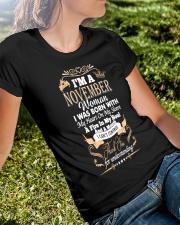 I'm a November woman Ladies T-Shirt lifestyle-women-crewneck-front-8