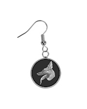German shepherd bracelet Circle Earrings thumbnail