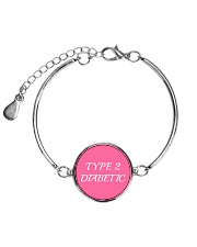 Type 2 Diabetic Jewelry Metallic Circle Bracelet thumbnail