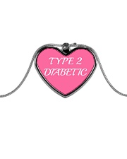 Type 2 Diabetic Jewelry Metallic Heart Necklace thumbnail