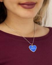 Type 2 Diabetic Jewelry Metallic Heart Necklace aos-necklace-heart-metallic-lifestyle-1