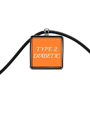 Type 2 Diabetic Jewelry Cord Rectangle Necklace front