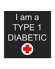 Diabetic Awareness Square Coaster thumbnail