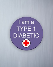 Diabetic Awareness Circle Magnet aos-magnets-round-front-lifestyle-1