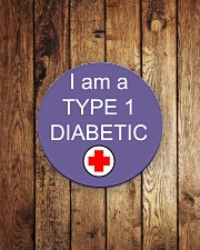Diabetic Awareness Circle Magnet aos-magnets-round-front-lifestyle-2