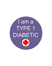 Diabetic Awareness Circle Magnet front
