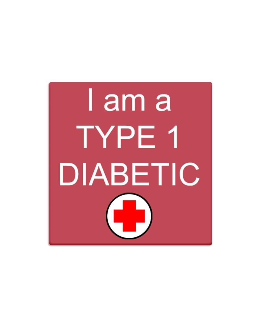 Diabetic Awareness Square Magnet