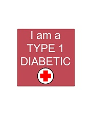 Diabetic Awareness Square Magnet front