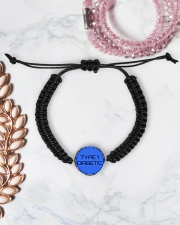 Type 1 Diabetic Jewelry Cord Circle Bracelet aos-bracelet-cord-front-lifestyle-1