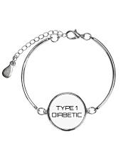 Type 1 Diabetic Jewelry Metallic Circle Bracelet thumbnail