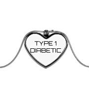 Type 1 Diabetic Jewelry Metallic Heart Necklace thumbnail