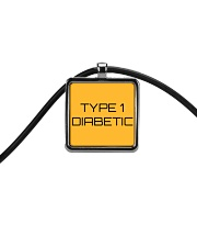 Type 1 Diabetic Jewelry Cord Rectangle Necklace front