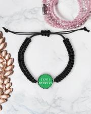 Type-1 Diabetic Jewelry Cord Circle Bracelet aos-bracelet-cord-front-lifestyle-1