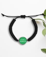 Type-1 Diabetic Jewelry Cord Circle Bracelet aos-bracelet-cord-front-lifestyle-7