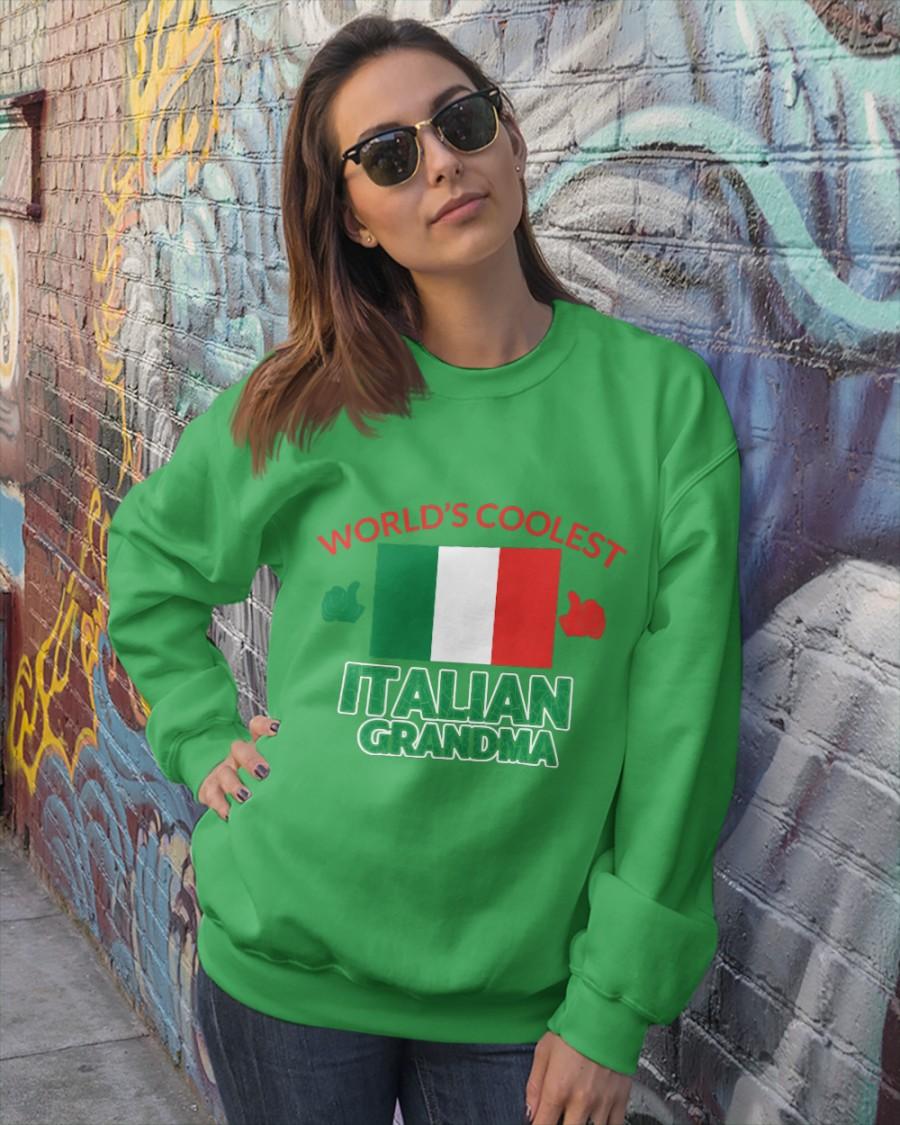 World coolest Italian Grandma Crewneck Sweatshirt
