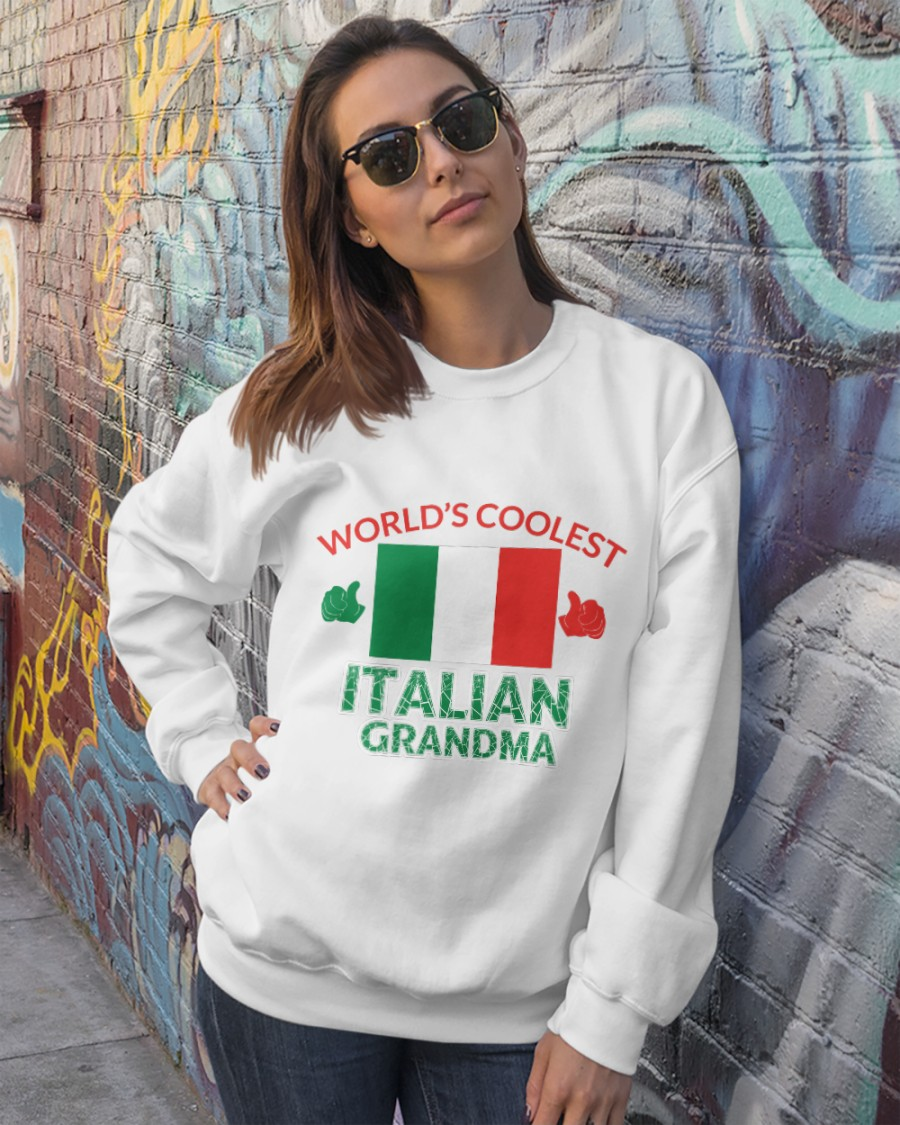 World coolest Italian Grandma Crewneck Sweatshirt showcase