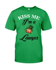 Kiss Me I'm A Lawyer Classic T-Shirt thumbnail