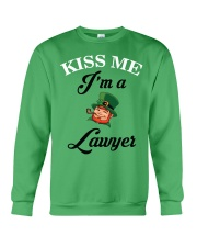 Kiss Me I'm A Lawyer Crewneck Sweatshirt thumbnail