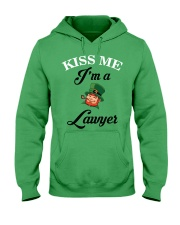 Kiss Me I'm A Lawyer Hooded Sweatshirt front