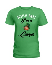 Kiss Me I'm A Lawyer Ladies T-Shirt front