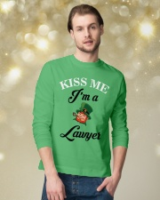 Kiss Me I'm A Lawyer Long Sleeve Tee lifestyle-holiday-longsleeves-front-3