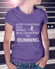 Some grandmas play bingo Real grandmas go running Premium Fit Ladies Tee lifestyle-women-crewneck-front-7
