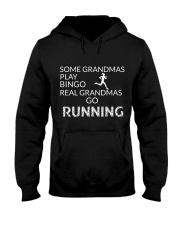 Some grandmas play bingo Real grandmas go running Hooded Sweatshirt thumbnail