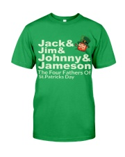 The Four Fathers of St Patricks Day Classic T-Shirt front
