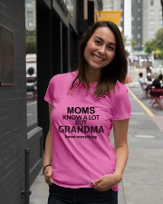 Moms knows a lot but grandma knows everything Ladies T-Shirt lifestyle-women-crewneck-front-5